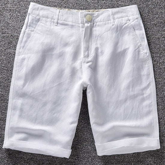 Men's Casual Linen Bermuda Shorts In multiple colors
