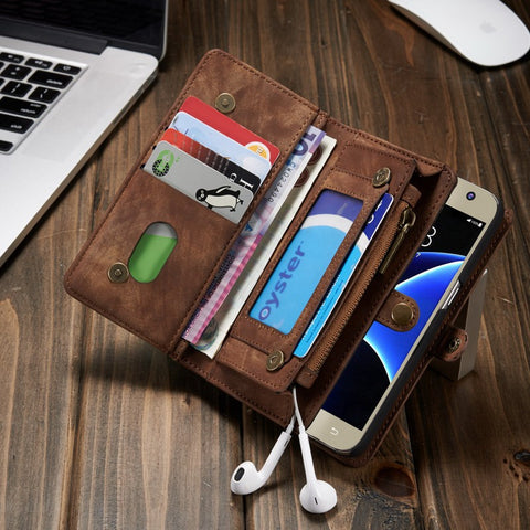 Luxury Wallet Leather Card Case for Samsung