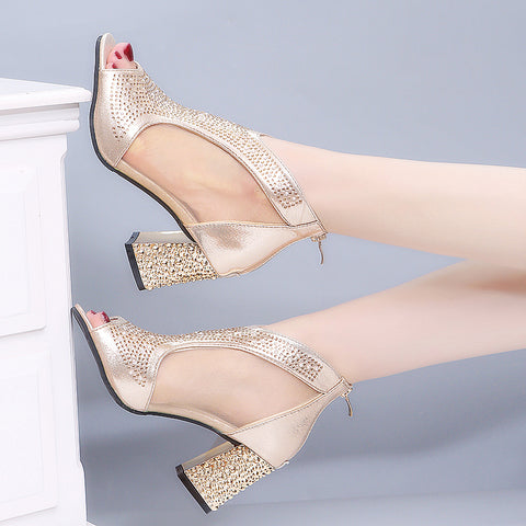 Women Bling Chunky heel Sandals