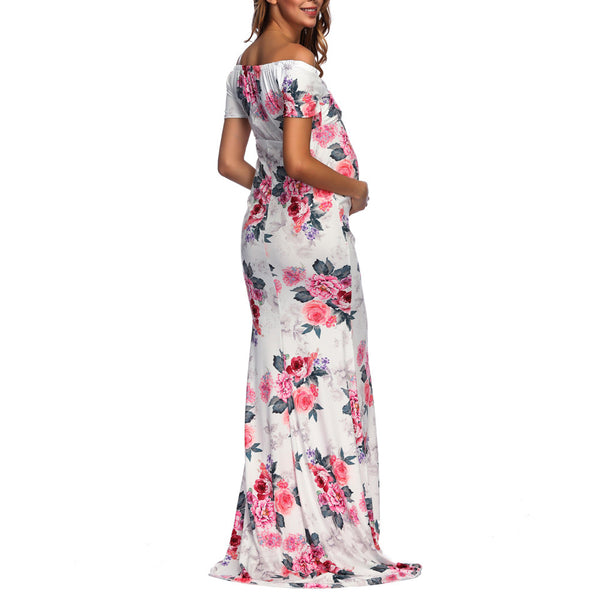 Formal maternity floral dress
