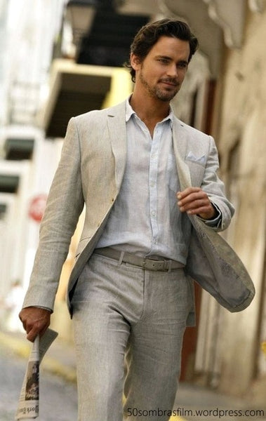 Tailor Made Linen Beige Slim Fit  2 Piece Jacket+Pants
