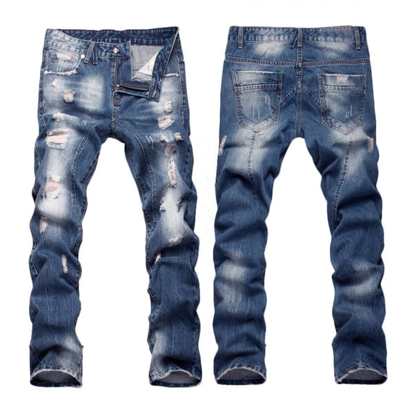 Denim Ripped Pants 29-40
