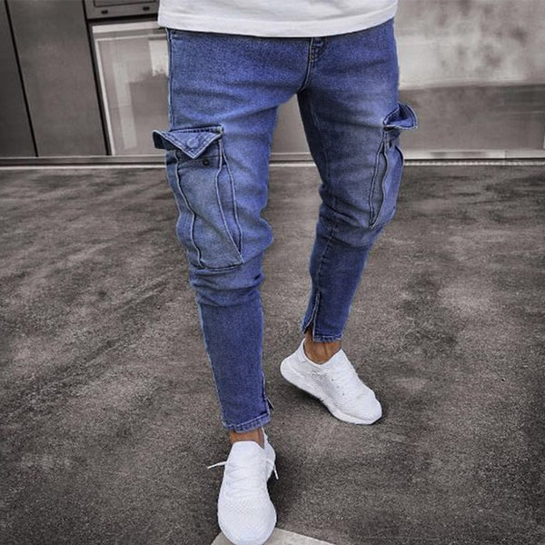 Skinny Stretch Distressed Ripped Jeans