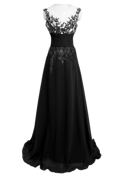 Elegant Lace Chiffon Long Dress