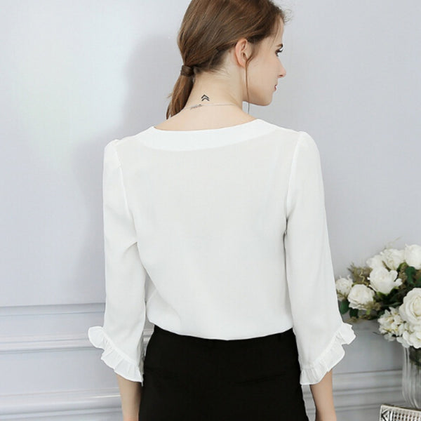 Flare Sleeves Loose Blouse