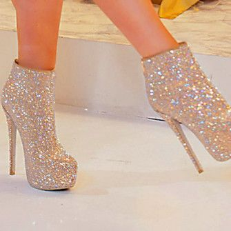 Bling Bling Crystal Embellished Stiletto Ankle Boots with Fringes