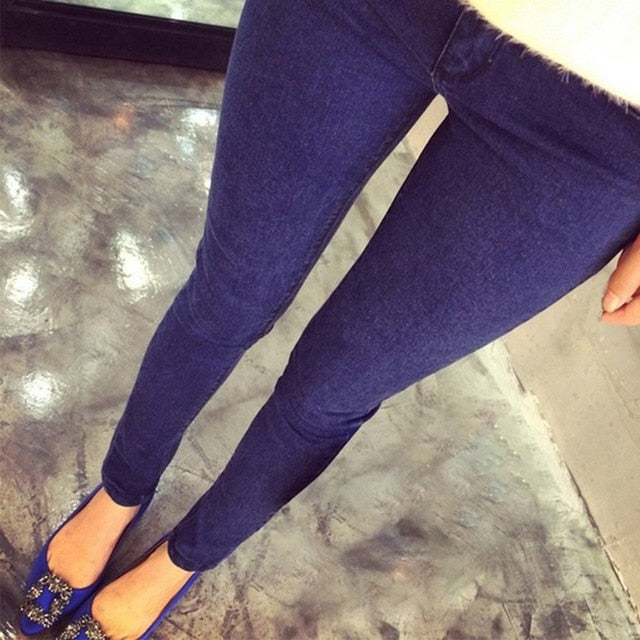 Pregnant Women Elastic Stretchy Cotton Jeans