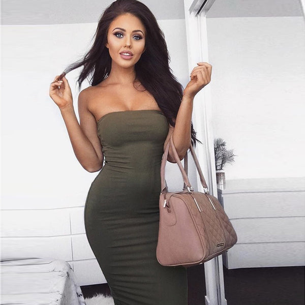 Sexy Strapless Stretchy Bandage Dress