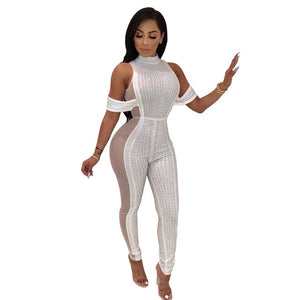 Sexy Mesh Bodycon Jumpsuit