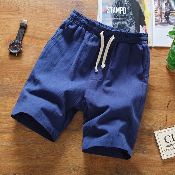 Linen Solid Color Shorts