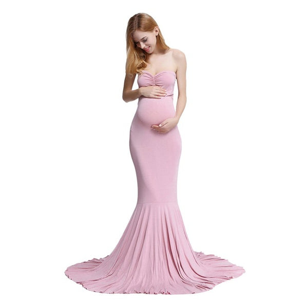 Maternity Sleeveless Long Dress