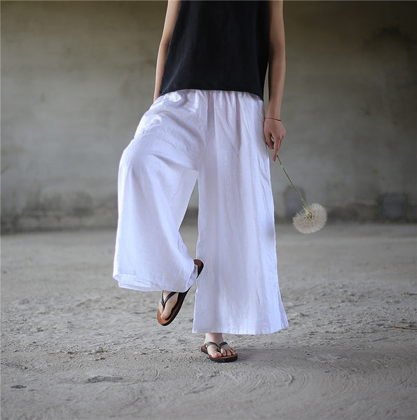 Linen one size Wide leg Pants