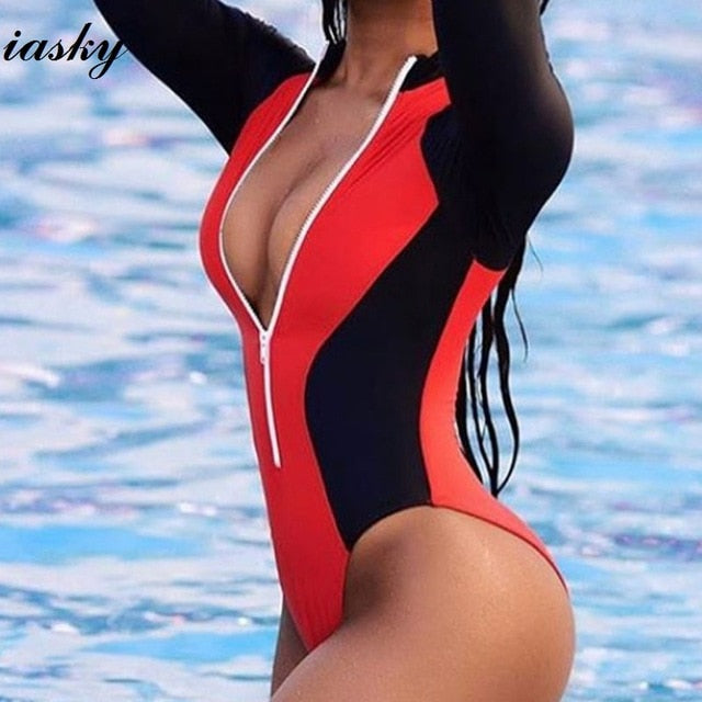 Long Sleeve One Piece Swimsuit