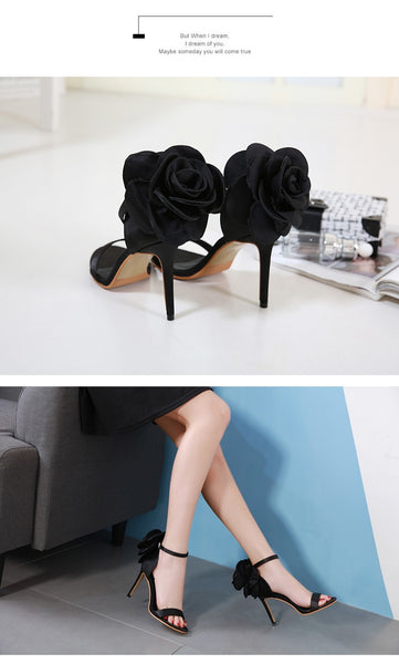 Big Butterfly-knot Stiletto High Heel Shoes