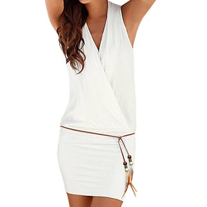 Deep V Neck Dress