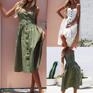 Casual Bohemian Beach Dress