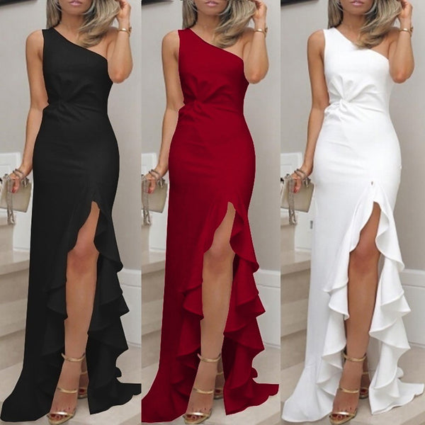 Elegant One Shoulder Mermaid Long Dress