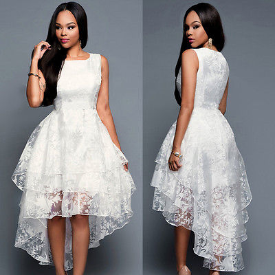 Sleeveless Lace Floral Boho Dress