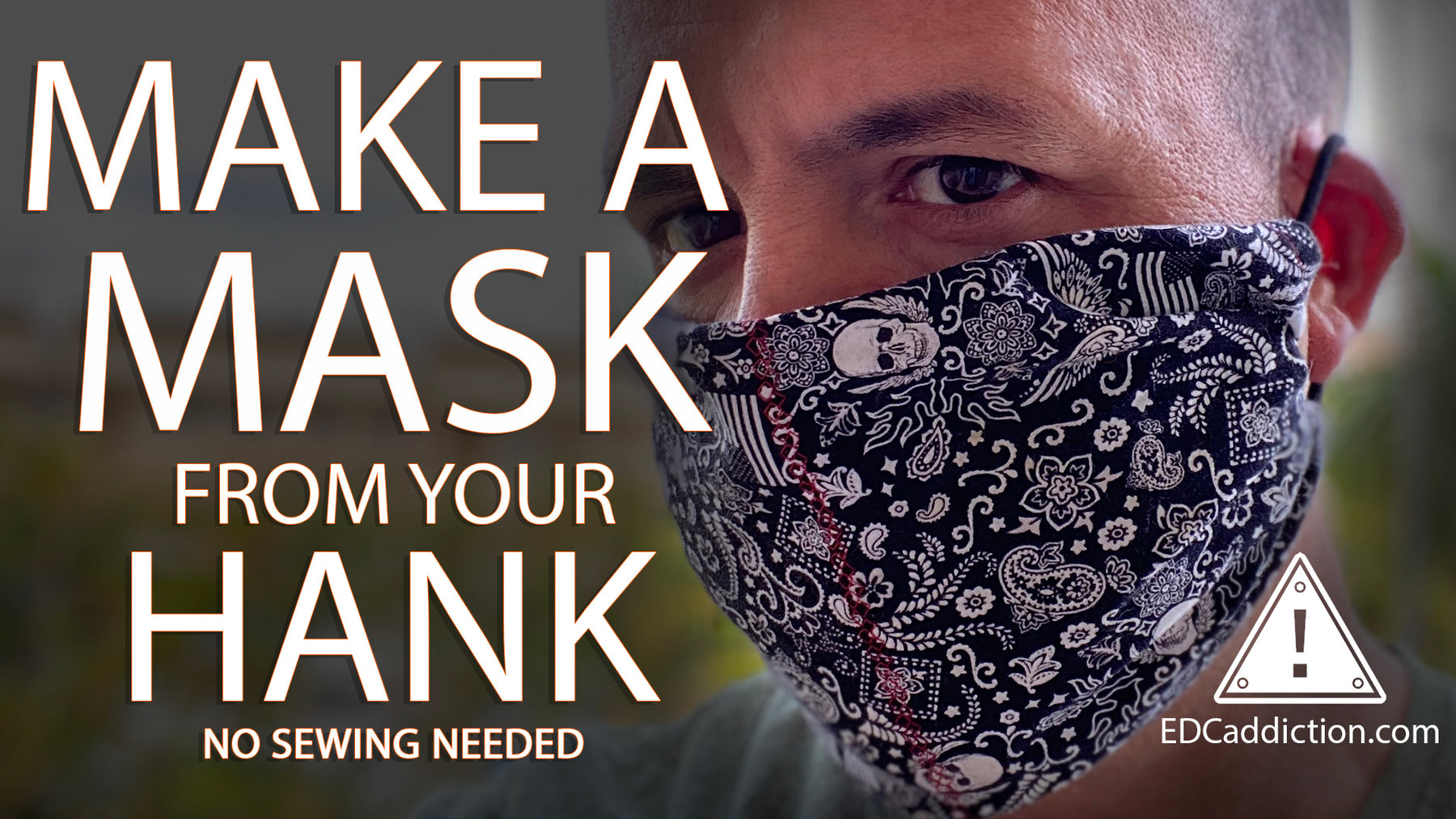 A No Sew Hank Mask: Make a mask from your hank (No sewing needed)