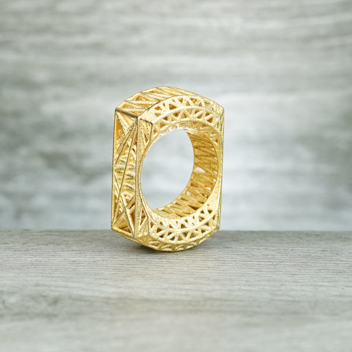 Caged 3D Printed SFK - Matte Brass