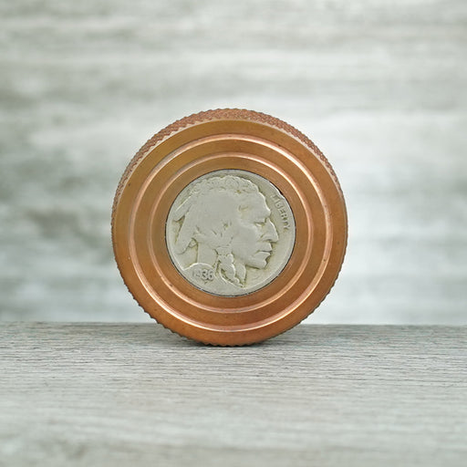 Flat Top - Copper with Buffalo Nickel Inlay