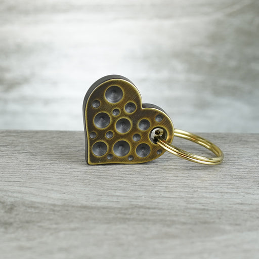 Heart - 0.25in Brass Drilled