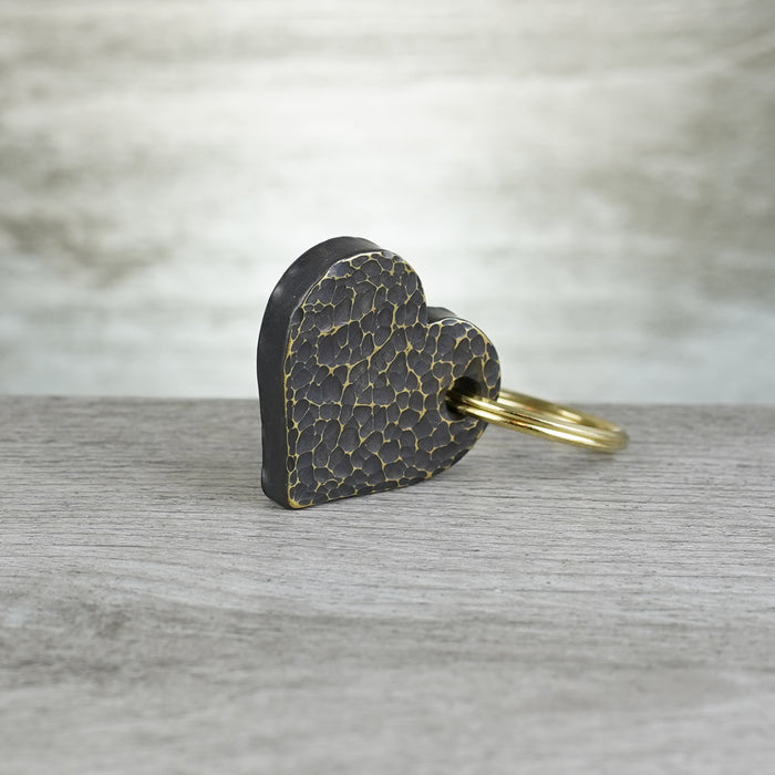 Heart - 0.25in Brass Hammered