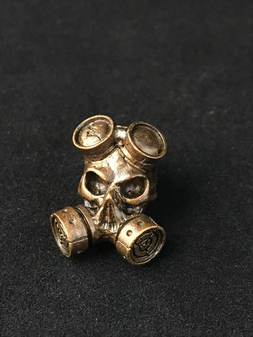 Gas Mask Lanyard Bead - Brass Oxidized
