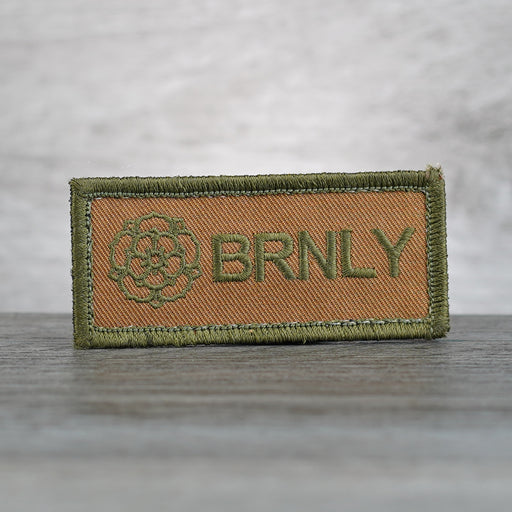 Patch - BRNLY OD Green Embroidered