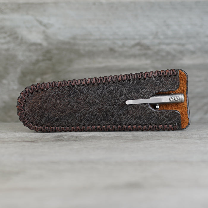 Pen Slip - Elephant Brown/Brown