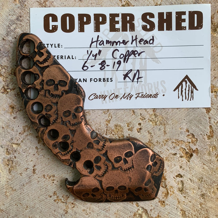 Hammerhead Pry Bar - 0.25in Copper Skulls