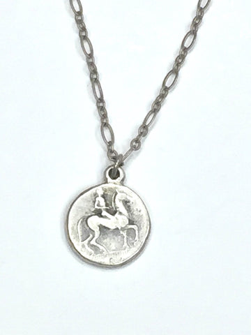 Two Tone Coin Neckla