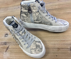 Metallic Snake Print High Top