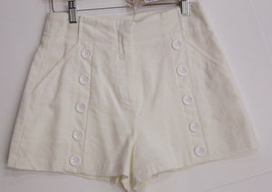 Front Button Detail Shorts