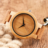 Bamboo watch viewed from different angles - side