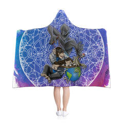 Underlying nature of reality Hooded Blanket