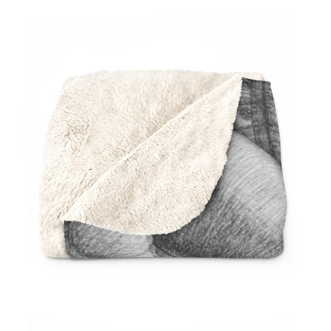 Underlying Nature of Reality B/W Sherpa Fleece Blanket