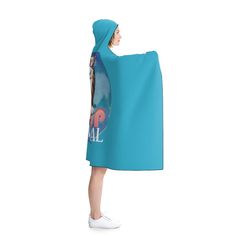 Pinup Material Hooded Blanket