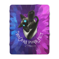 You Are PurrfectSherpa Fleece Blanket