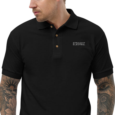 Straight Electric Embroidered Polo Shirt