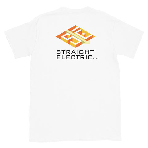 Straight Electric Light Short-Sleeve Unisex T-Shirt