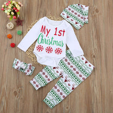 Load image into Gallery viewer, My First Christmas Infant 4Pc Outfit