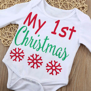 My First Christmas Infant 4Pc Outfit
