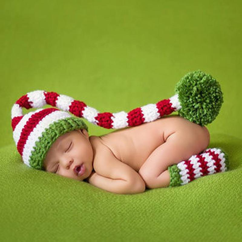 Baby Newborn Photography Prop Costume Crochet Hat and Leggings