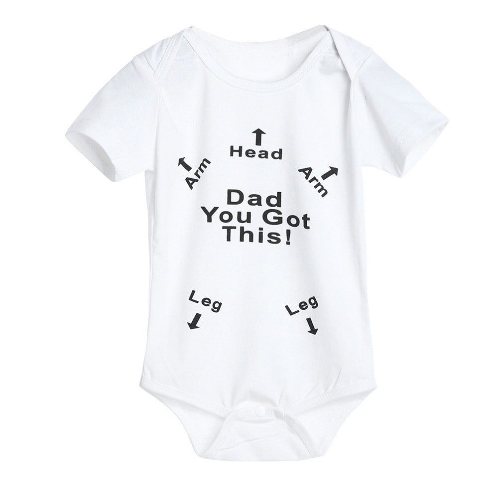 Infant Baby Newborn Bodysuit Print Dad You Got This