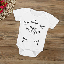 Load image into Gallery viewer, Infant Baby Newborn Bodysuit Print Dad You Got This