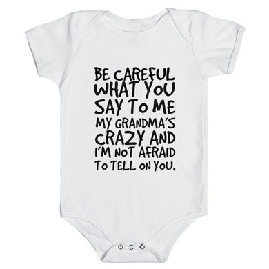 Baby Girl Bodysuit Tell Grandma