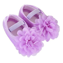Load image into Gallery viewer, Baby Girl Shoes with Chiffon Flower