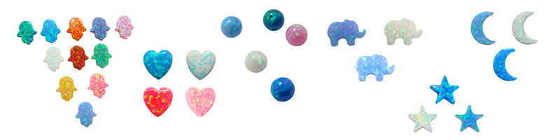 Synthetic Opal Charm Shapes