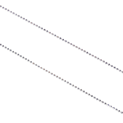 "Bead Chain 1.0 mm 925 Sterling Silver Ball Dainty Beaded Diamond Cut Beads Chain Finished for Necklace Thin Bead Chain length 16""/18"""
